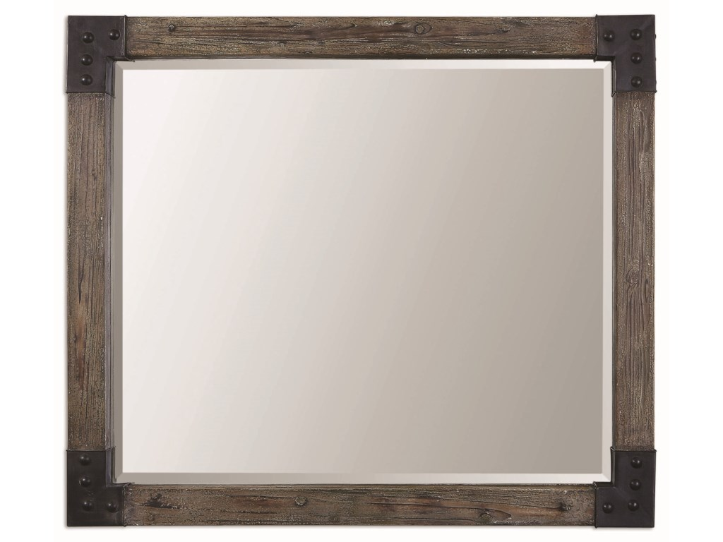 Uttermost MirrorsNelo Weathered Wood Mirror