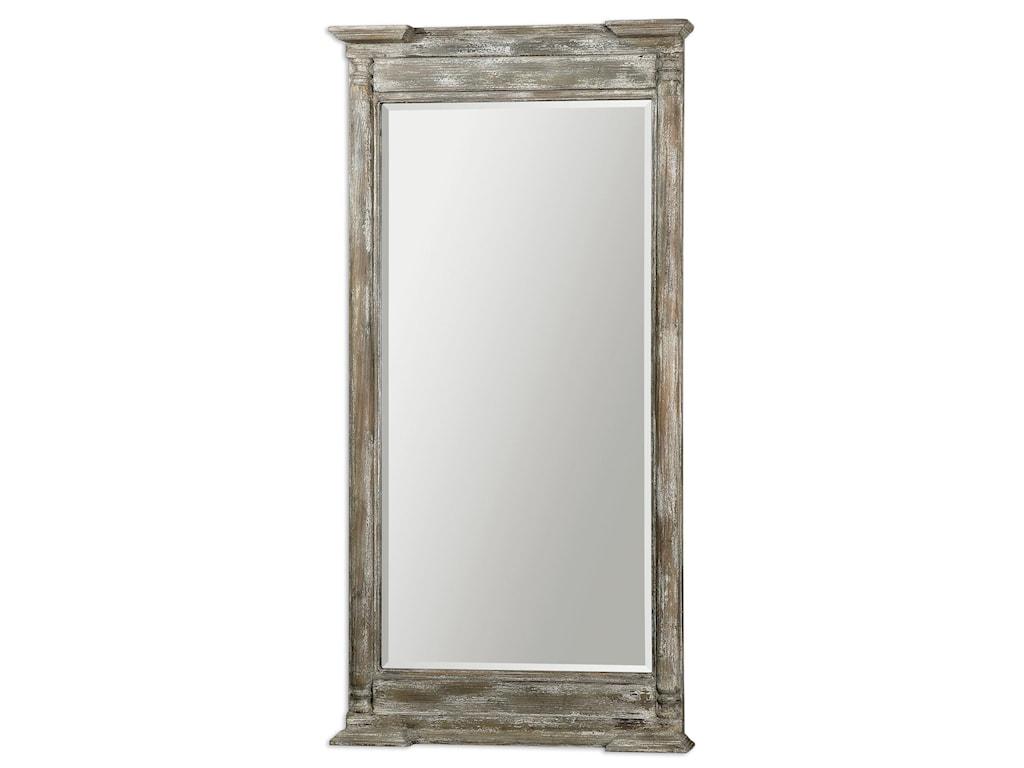 Uttermost MirrorsValcellina Wooden Leaner Mirror