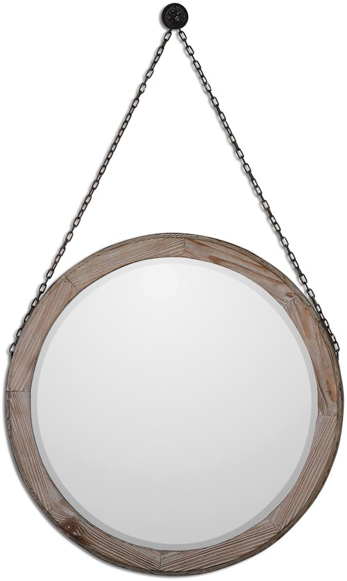 Uttermost Mirrors Loughlin Round Wood Mirror