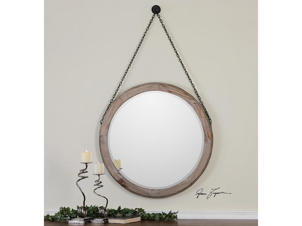 Uttermost Mirrors - RoundLoughlin Round Wood Mirror
