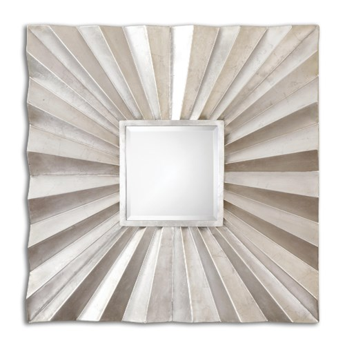 Uttermost Mirrors Adelmar Metal Square Mirror