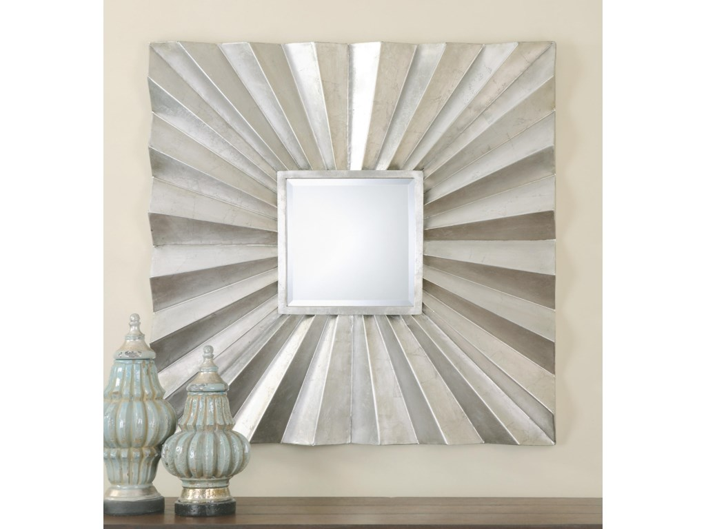 Uttermost MirrorsAdelmar Metal Square Mirror
