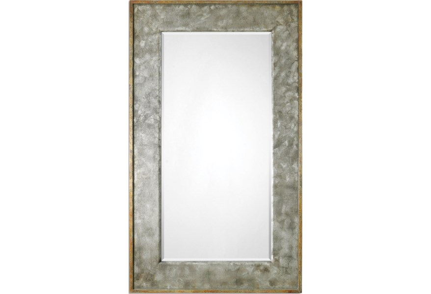Mirrors Leron Distressed Bronze Mirror By Uttermost At Dunk Bright Furniture