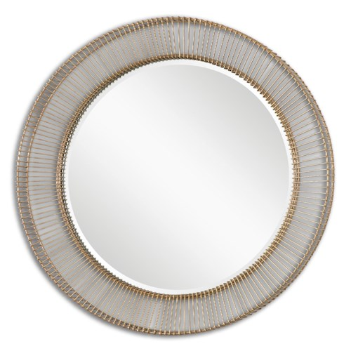 Uttermost Mirrors Bricius Round Metal Mirror