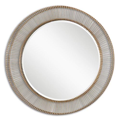 Uttermost Mirrors Bricius Round Metal Mirror