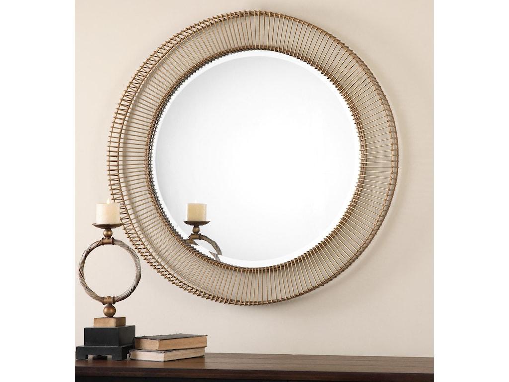 Uttermost Mirrors - RoundBricius Round Metal Mirror