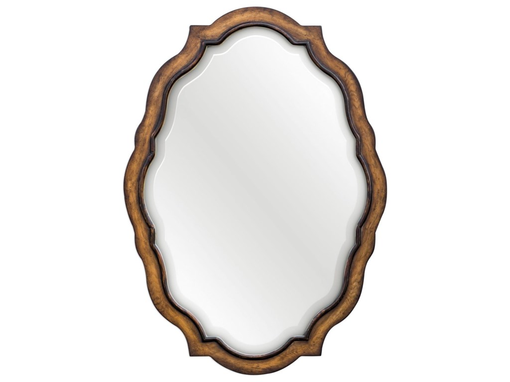 Uttermost Mirrors - Ovaltalicia Aged Wood Mirror