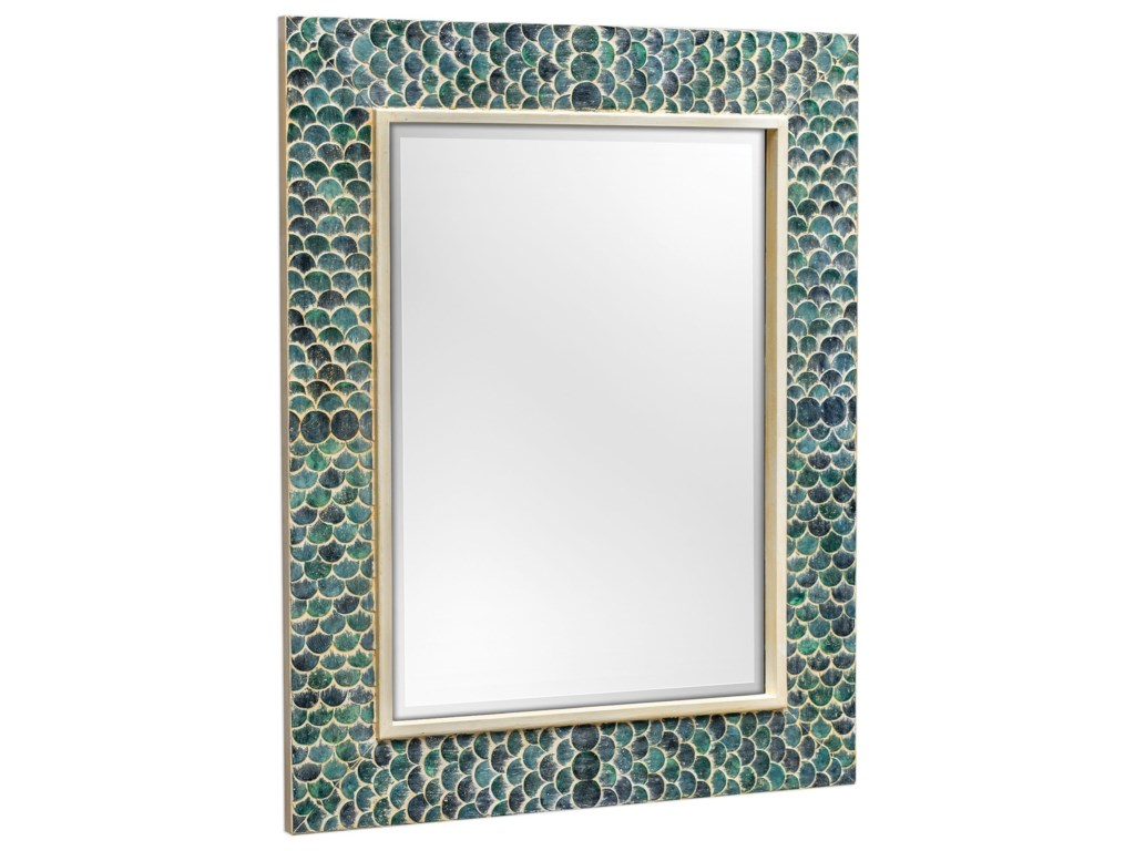 Uttermost MirrorsMakaria Coastal Blue Mirror