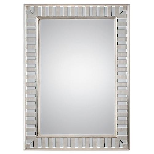Uttermost Mirrors Lanester Silver Leaf Mirror