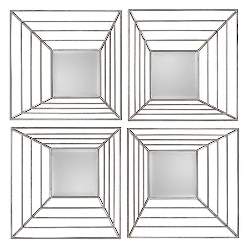 Uttermost Mirrors Denain Square Mirrors, S/4