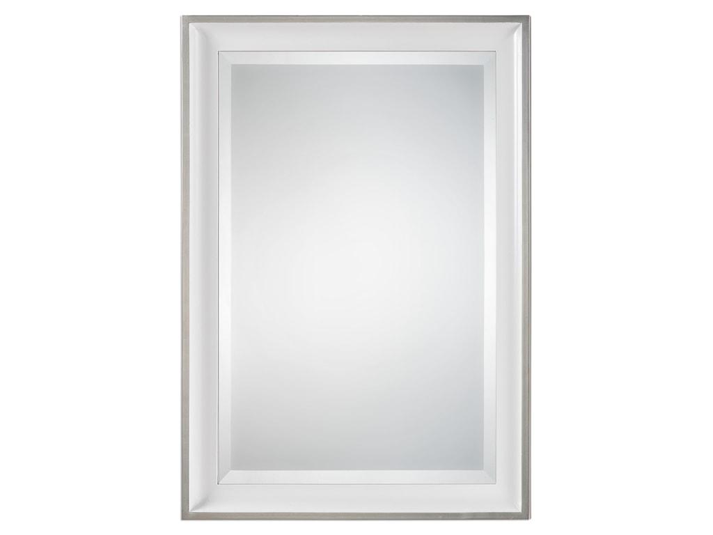 Uttermost MirrorsLahvahn White Silver Mirror
