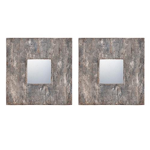Uttermost Mirrors Piera Square Aged Stone Mirrors, S/2