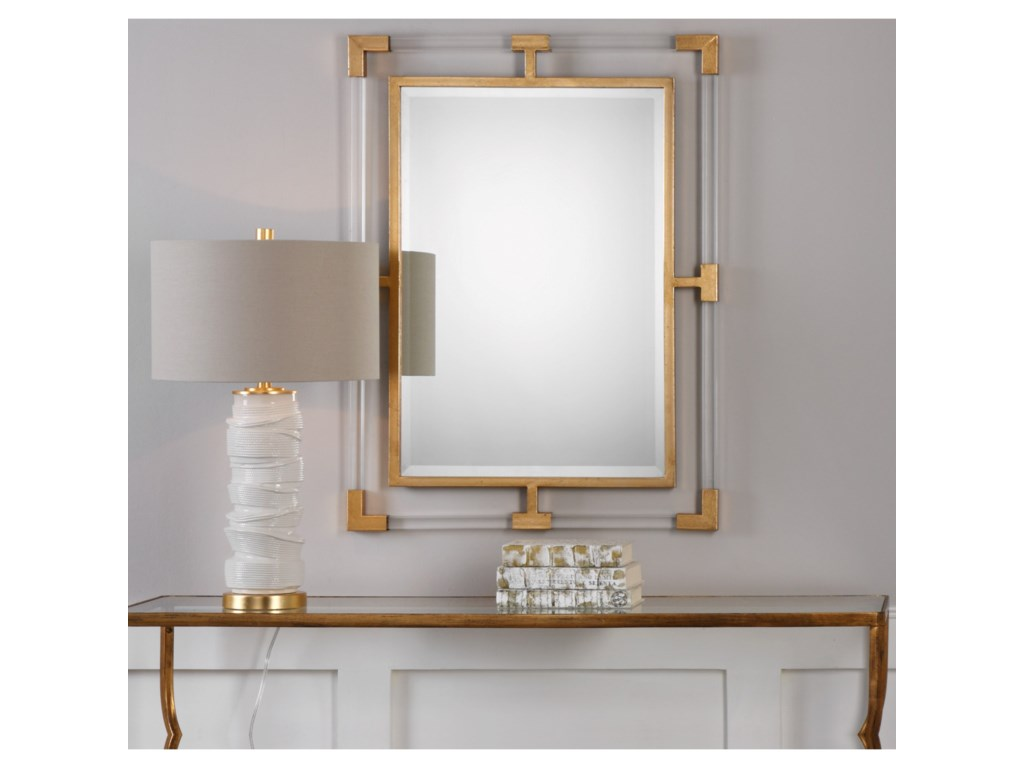 Uttermost Mirrors Balkan Modern Gold Wall Mirror