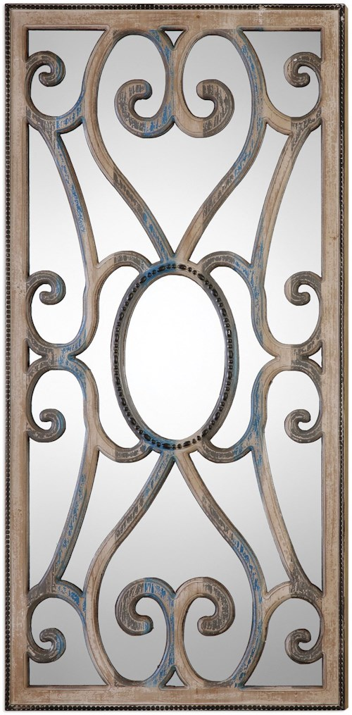 Uttermost Mirrors  Rosalind Carved Wooden Frame Mirror