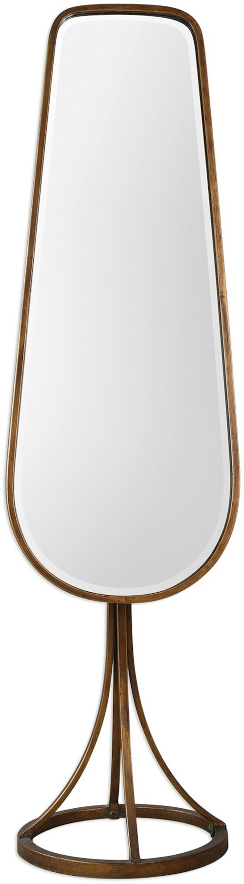 Uttermost Mirrors  Gavar Gold Cheval Mirror