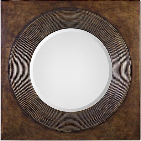 Eason Golden Bronze Round Mirror