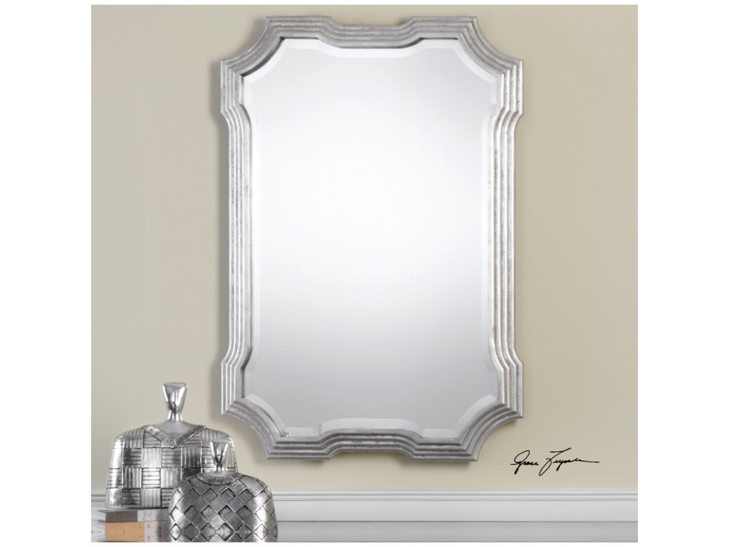 Uttermost Mirrors Halima Silver Step Mirror
