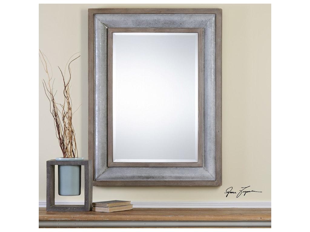 Uttermost Mirrors Selden Steel Mirror