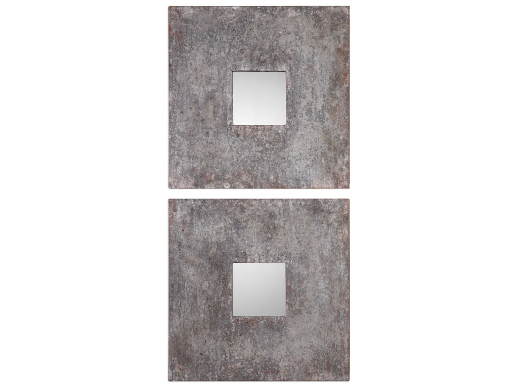 Uttermost MirrorsAltha Burnished Square Mirrors (Set of 2)