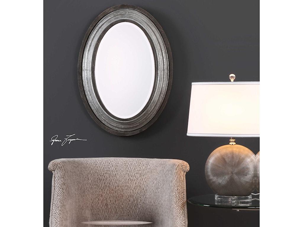 Uttermost Mirrors - OvalGalina Iron Oval Mirror