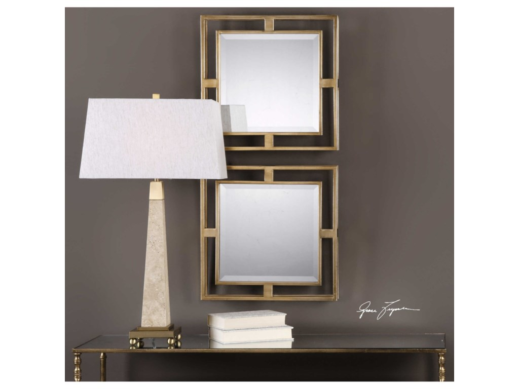 Uttermost MirrorsAllick Gold Square Mirrors (Set of 2)