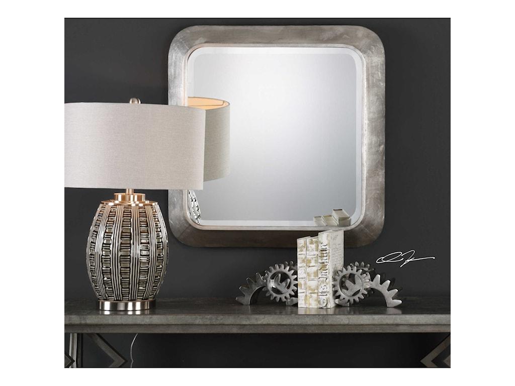 Uttermost MirrorsVerea Metallic Silver Mirror