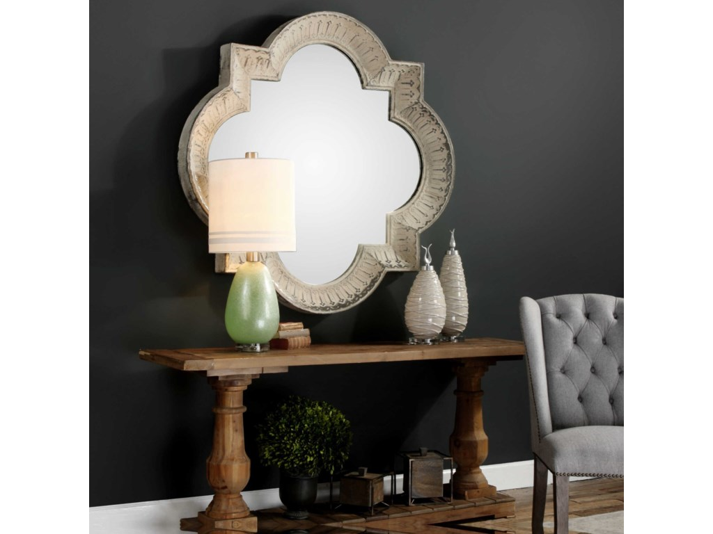 Uttermost MirrorsGiada Large Aged Ivory Mirror