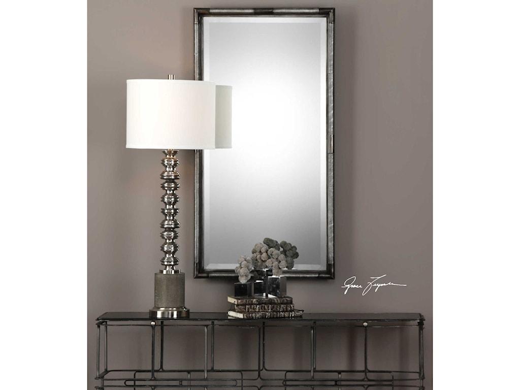 Uttermost MirrorsFinnick Iron Coil Rectangle Mirror