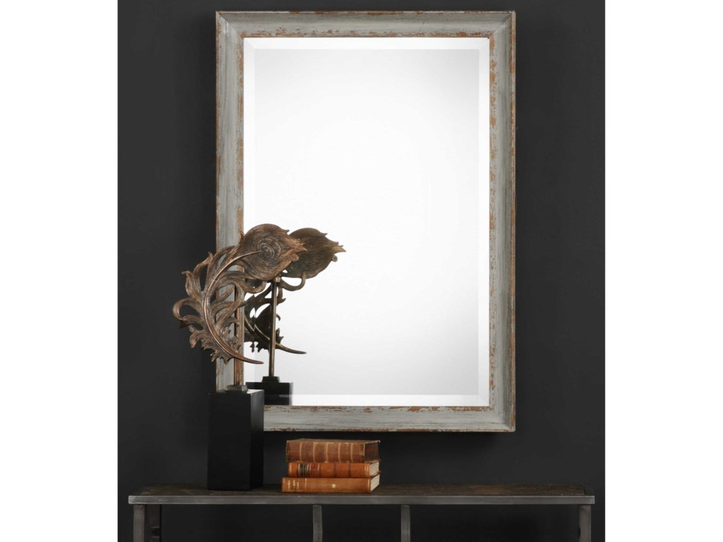 Uttermost MirrorsHattie Aged Blue Mirror
