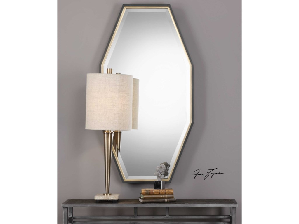 Uttermost MirrorsSavion Gold Octagon Mirror