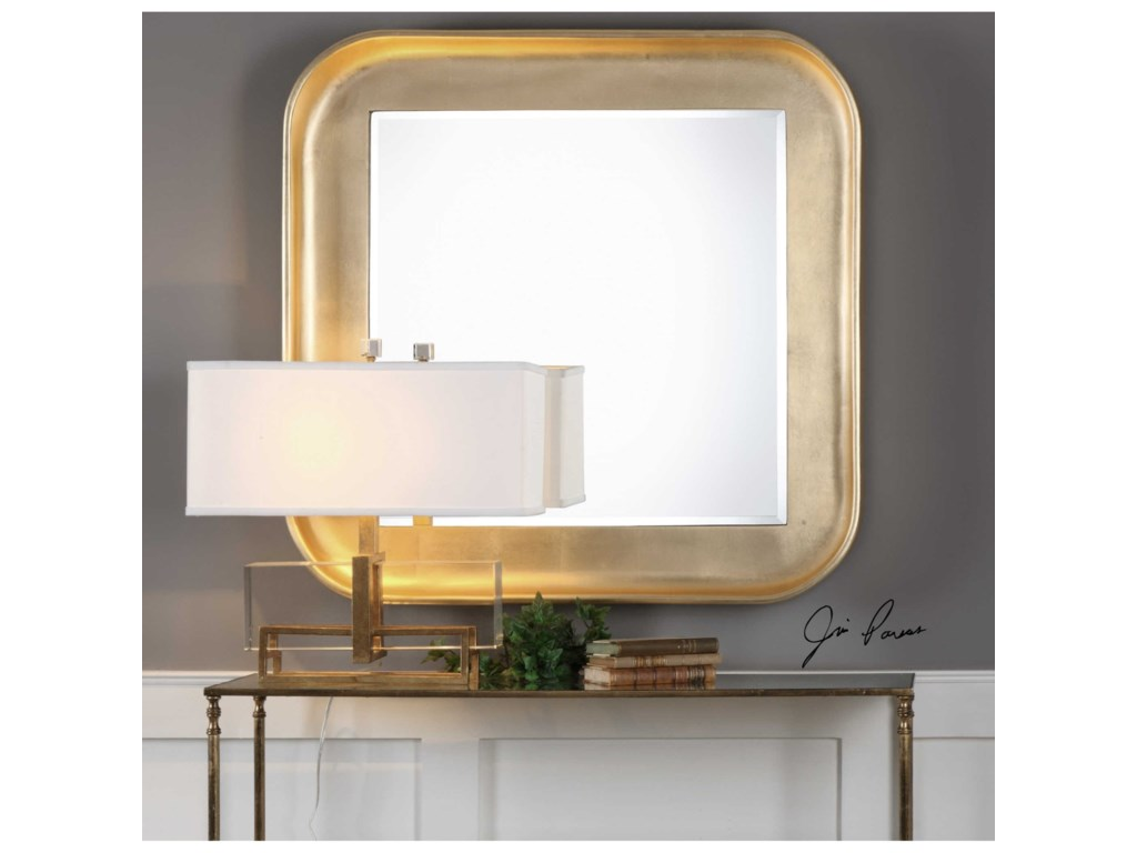 Uttermost MirrorsHaemon Metallic Gold Mirror