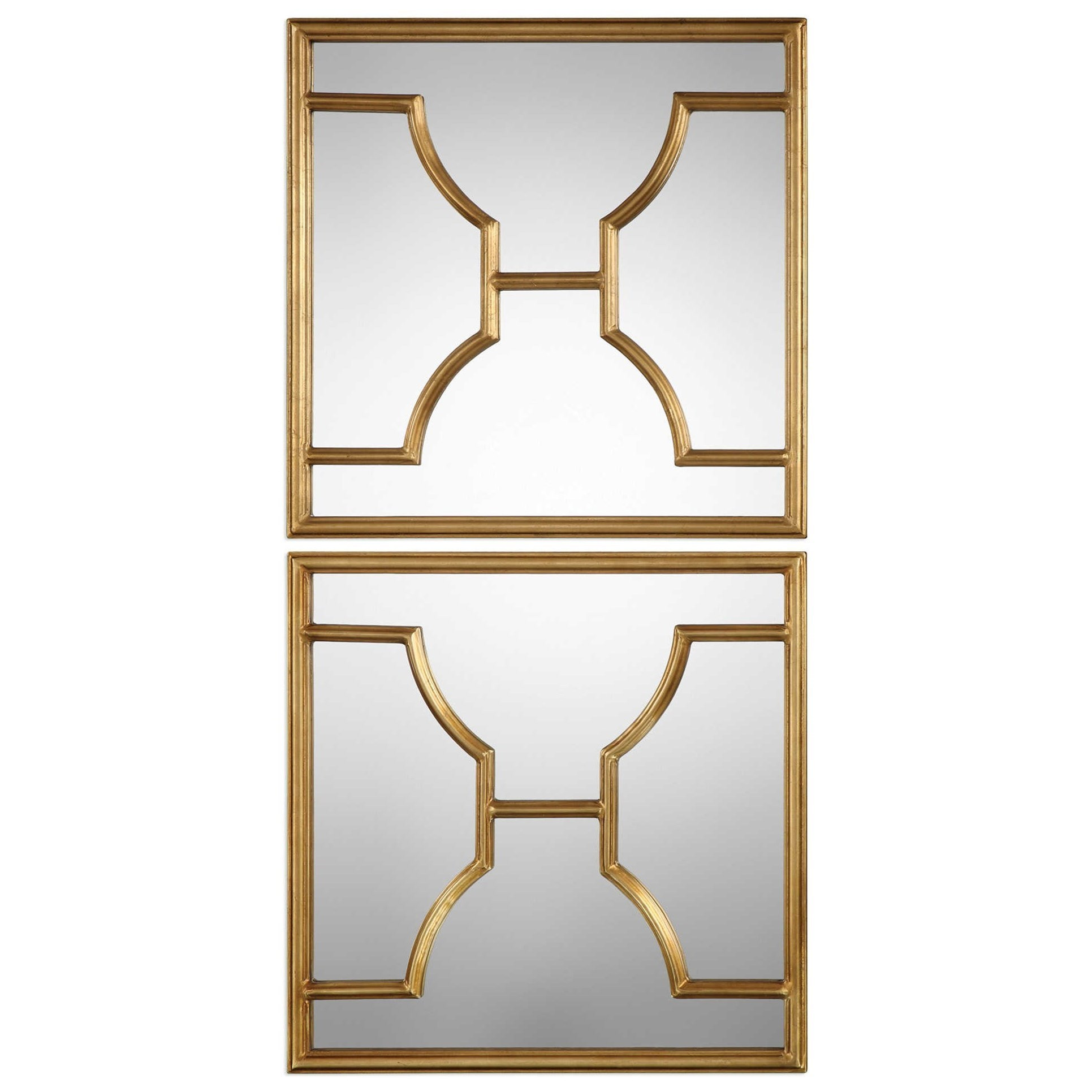 Uttermost Mirrors Misa Gold Square Mirrors Set Of 2 | Miskelly Furniture | Wall  Mirrors