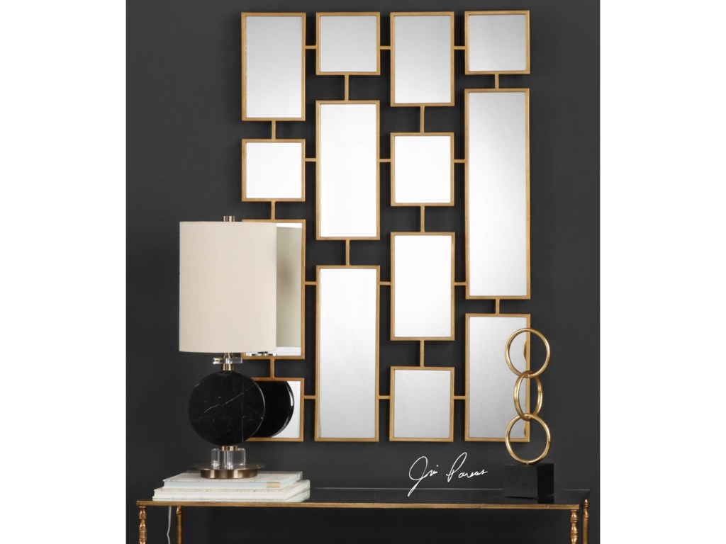 Uttermost MirrorsKennon Forged Gold Rectangles Mirror