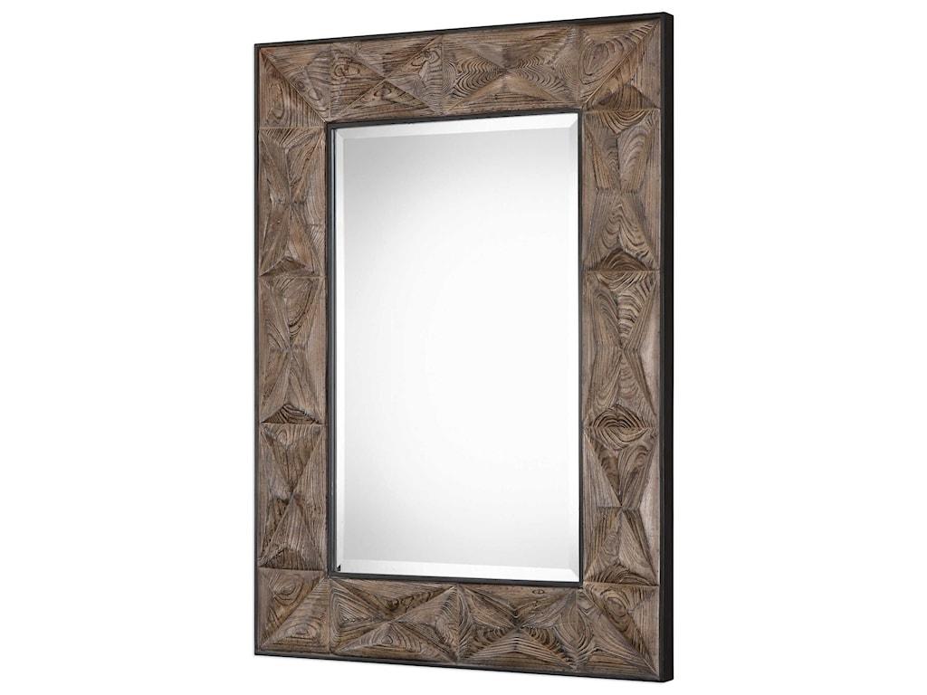 Uttermost MirrorsWilder Aged Wood Mirror
