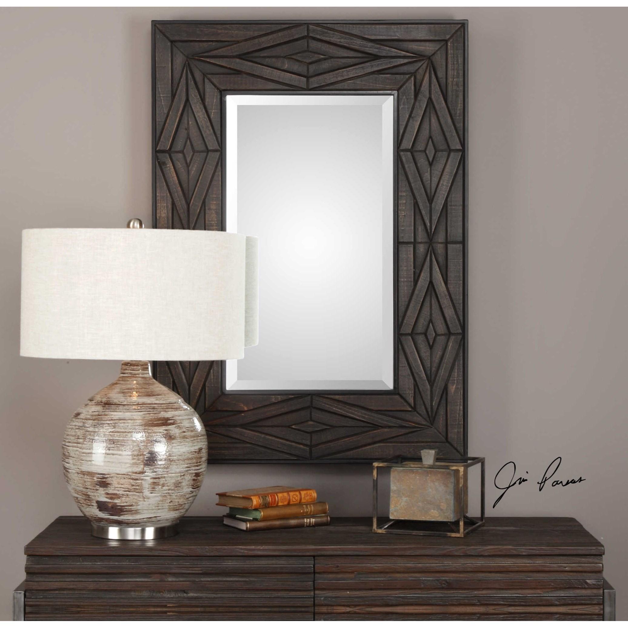 Uttermost Mirrors Bolsena Solid Wood Mirror