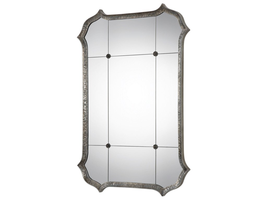 Uttermost MirrorsLesina Hammered Silver Mirror