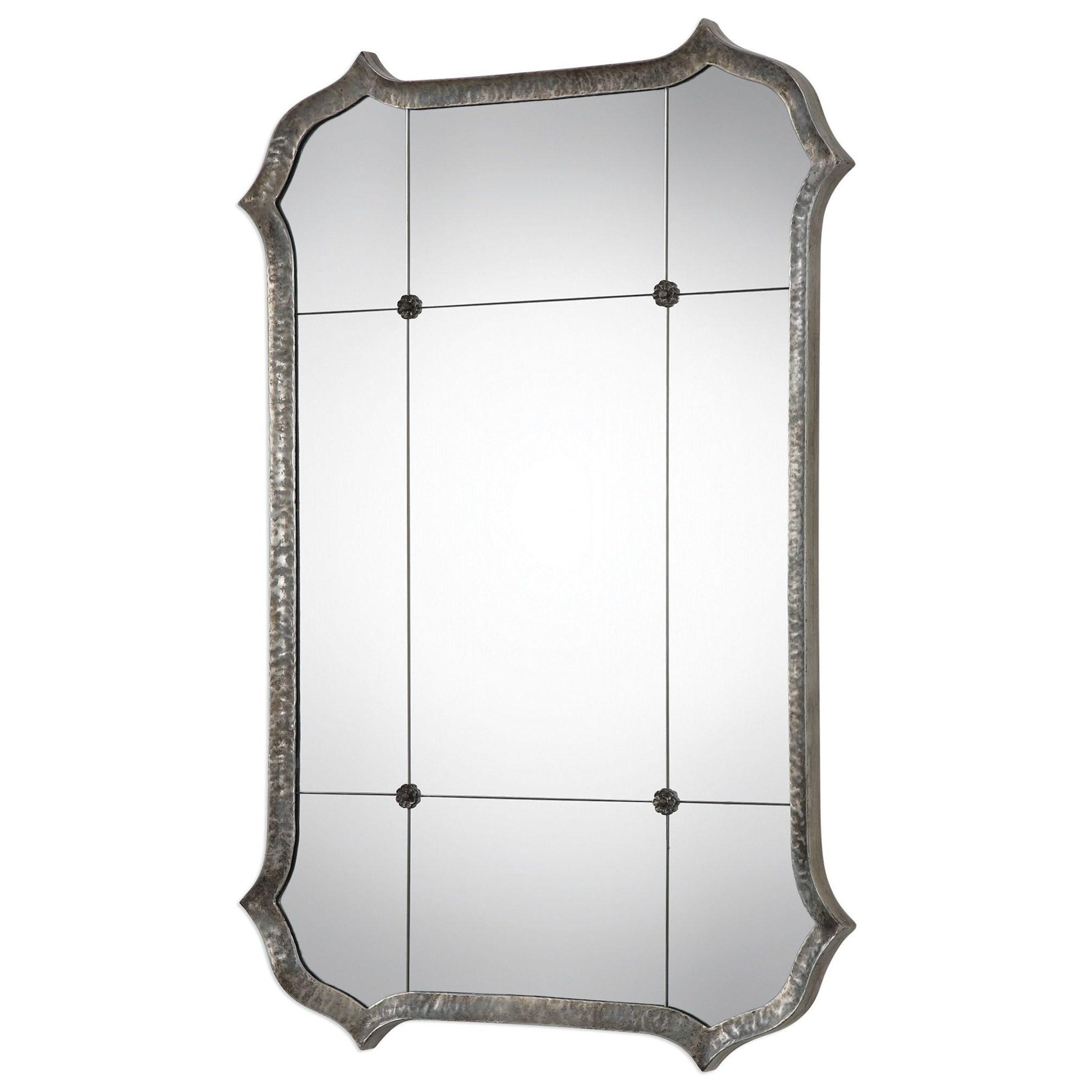Uttermost MirrorsLesina Hammered Silver Mirror ...