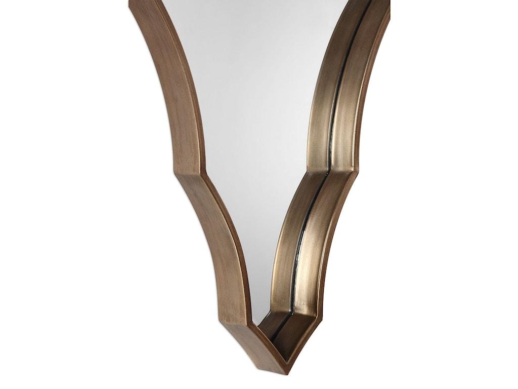 Uttermost MirrorsSaffron Scalloped Bronze Mirror
