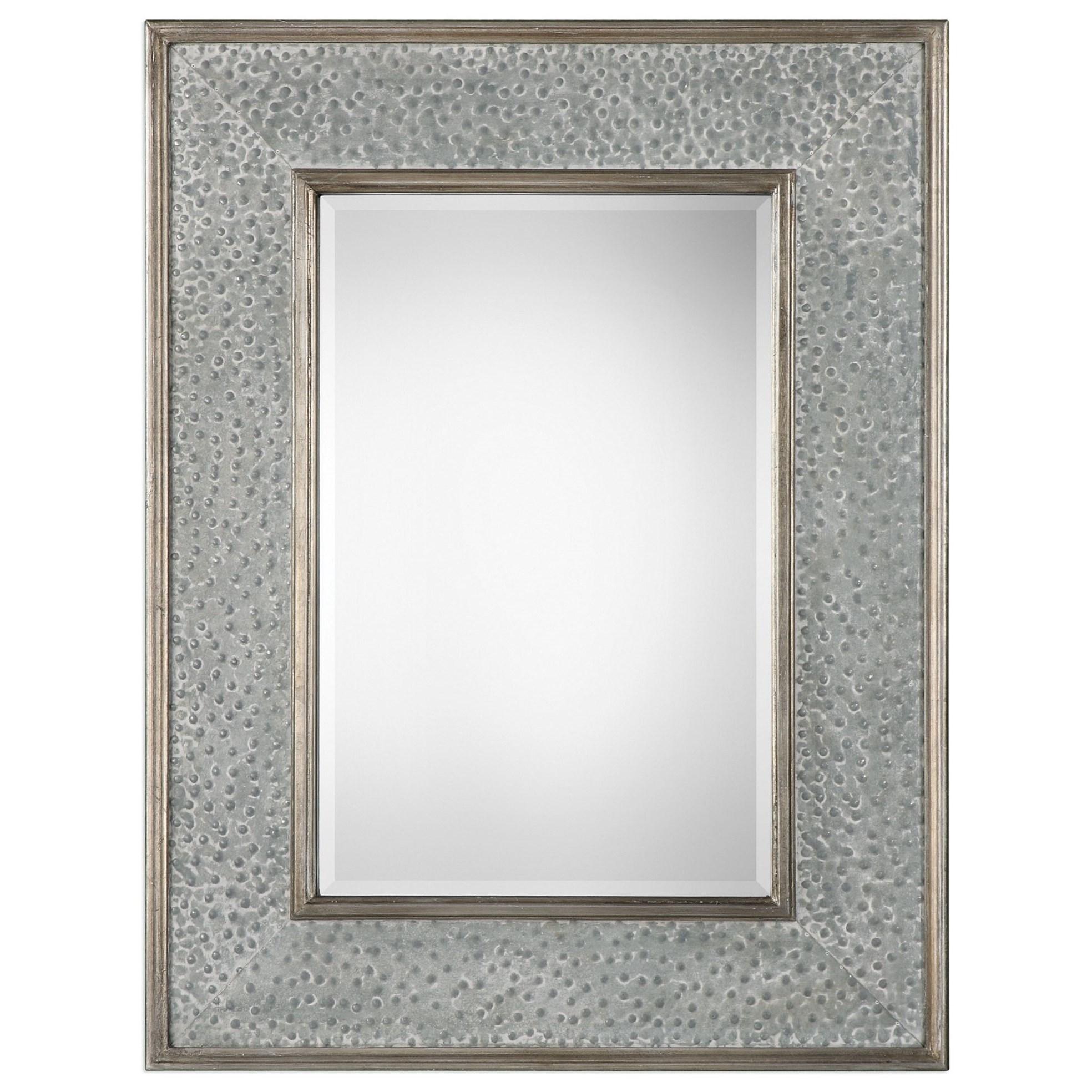 Uttermost MirrorsDraven Textured Silver Mirror ...