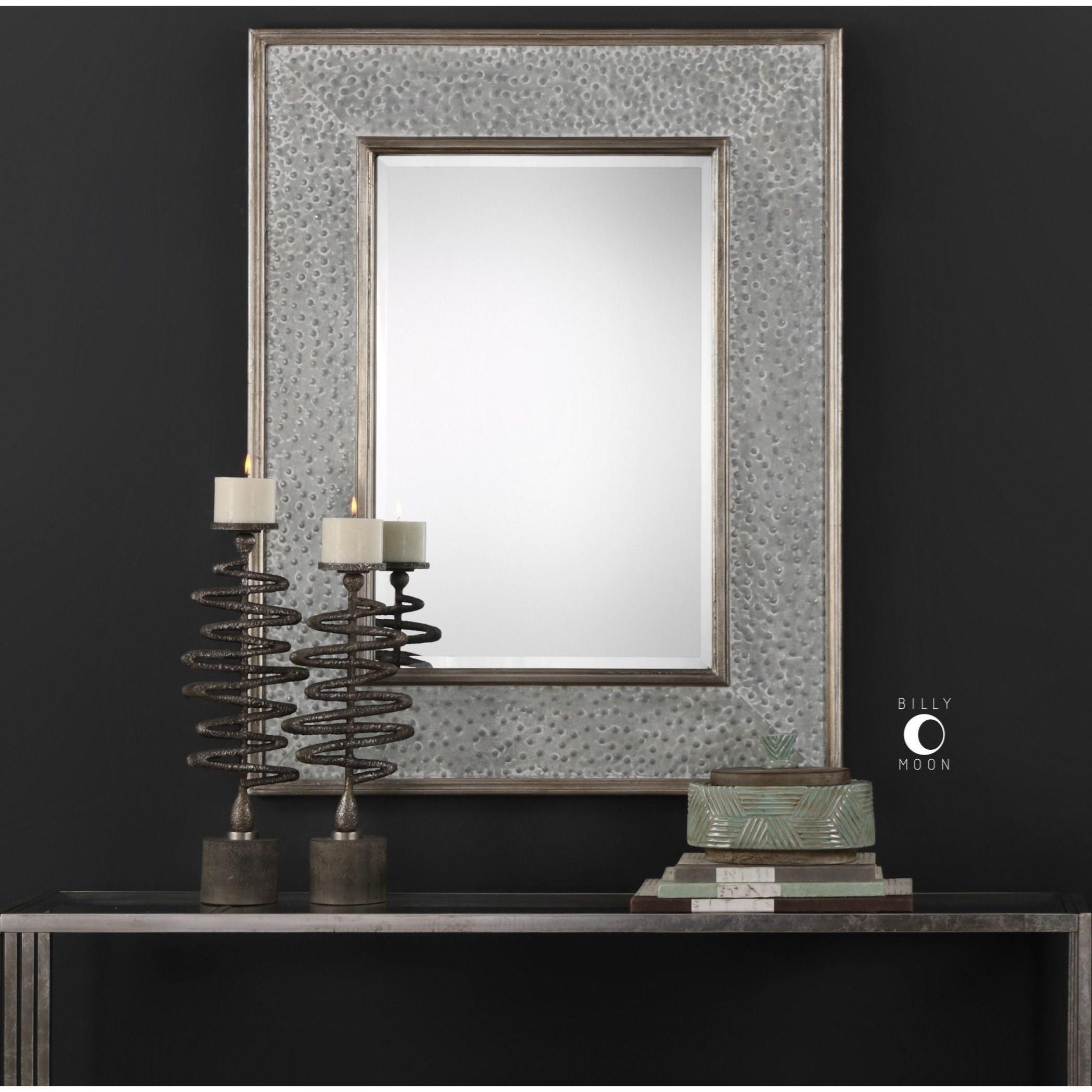 Uttermost MirrorsDraven Textured Silver Mirror; Uttermost MirrorsDraven  Textured Silver Mirror ...