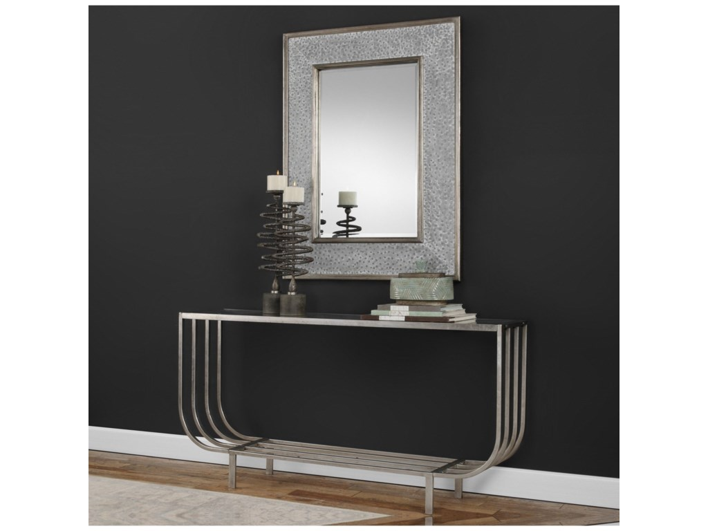 Uttermost MirrorsDraven Textured Silver Mirror