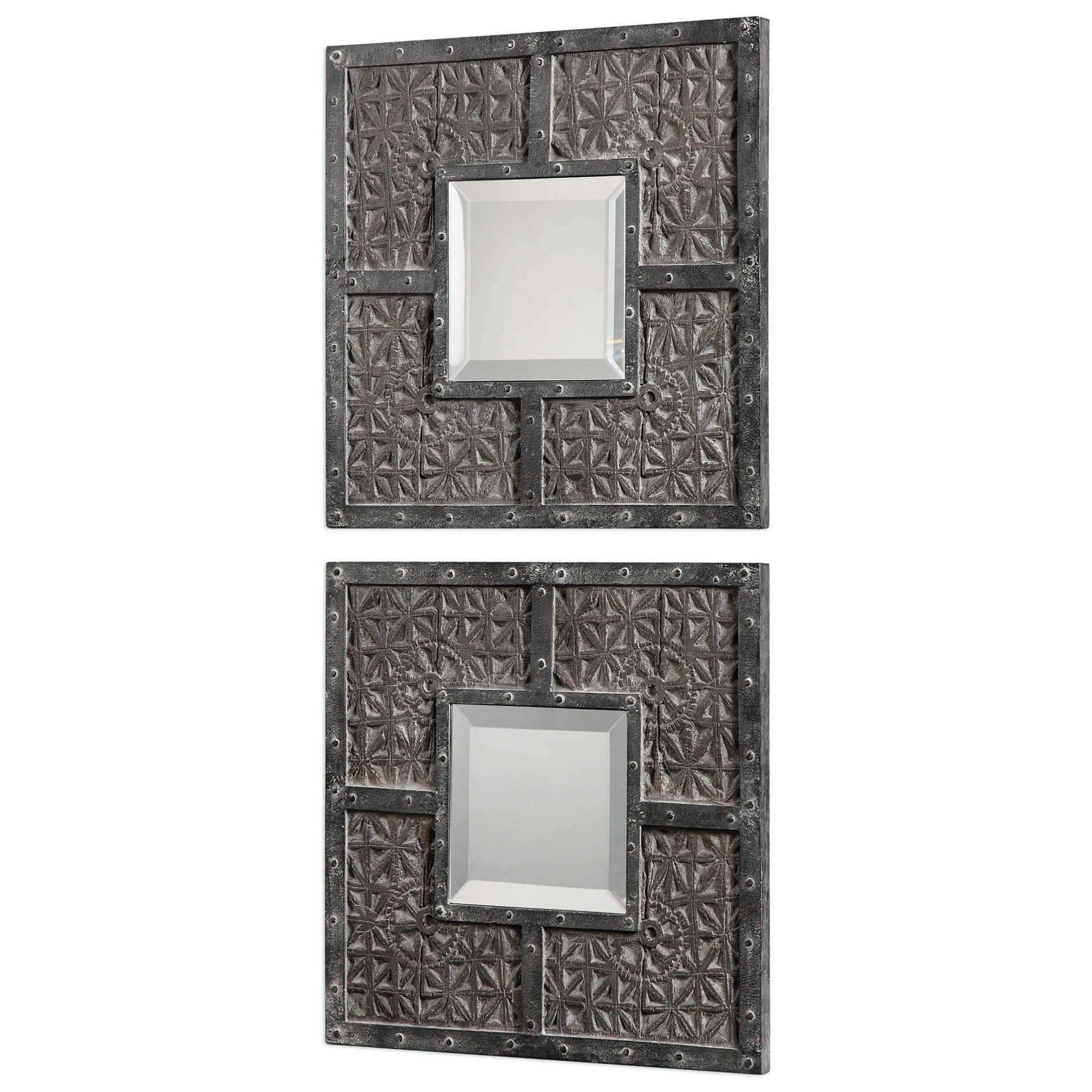 Uttermost Mirrors Gaiana Bronze Square Mirrors Set Of 2