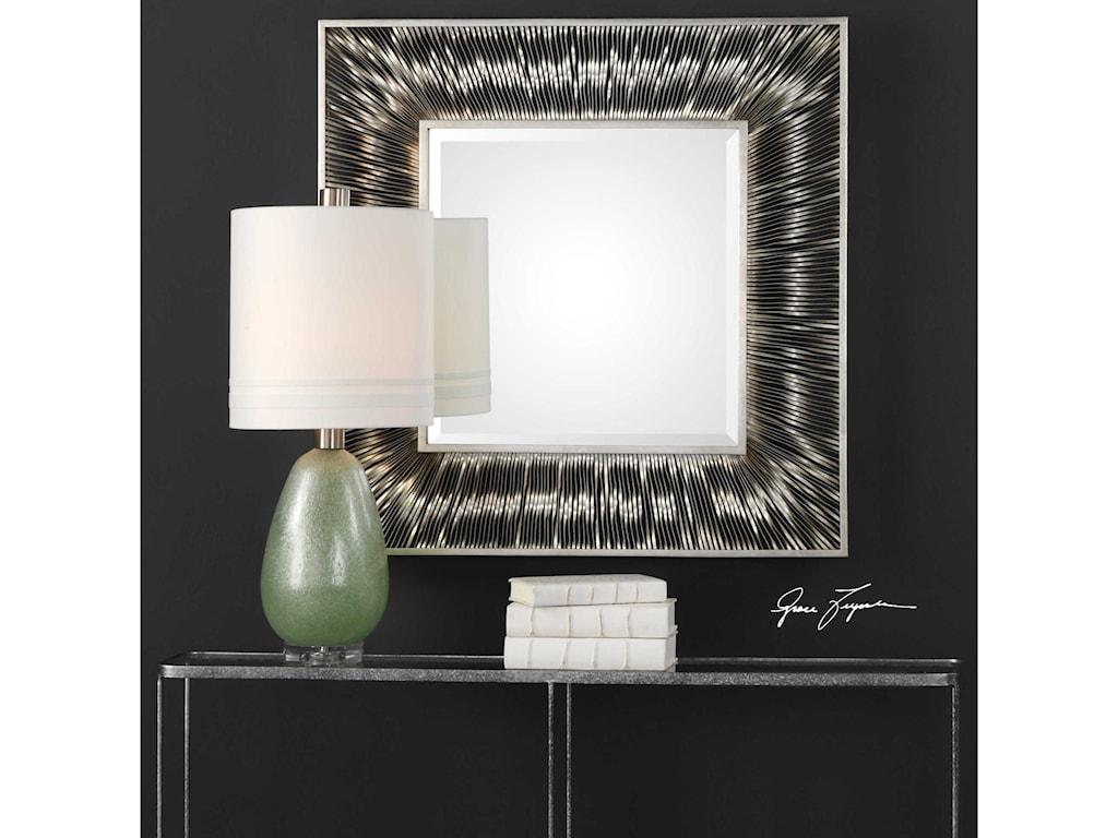 Uttermost MirrorsJacenia Silver Square Mirror