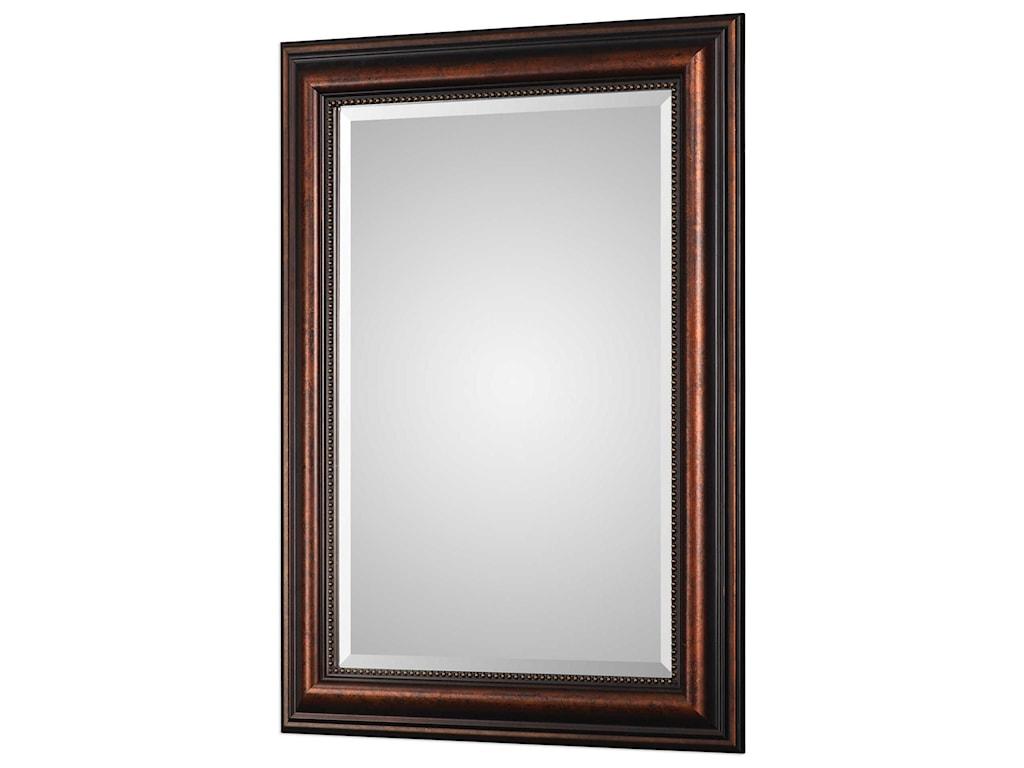 Uttermost MirrorsStuart Rubbed Bronze Mirror