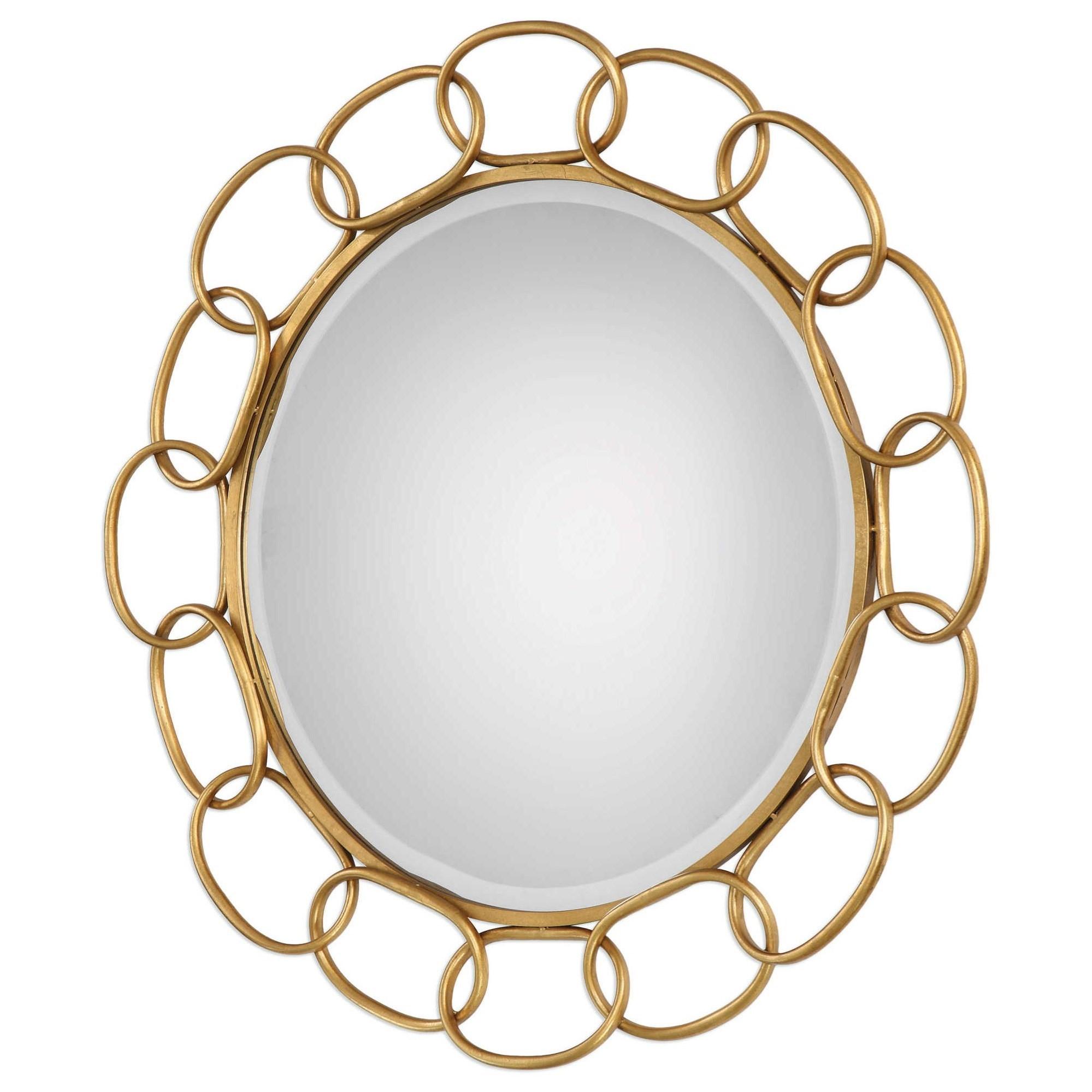 Uttermost MirrorsCirculus Gold Round Mirror; Uttermost MirrorsCirculus Gold  Round Mirror ...