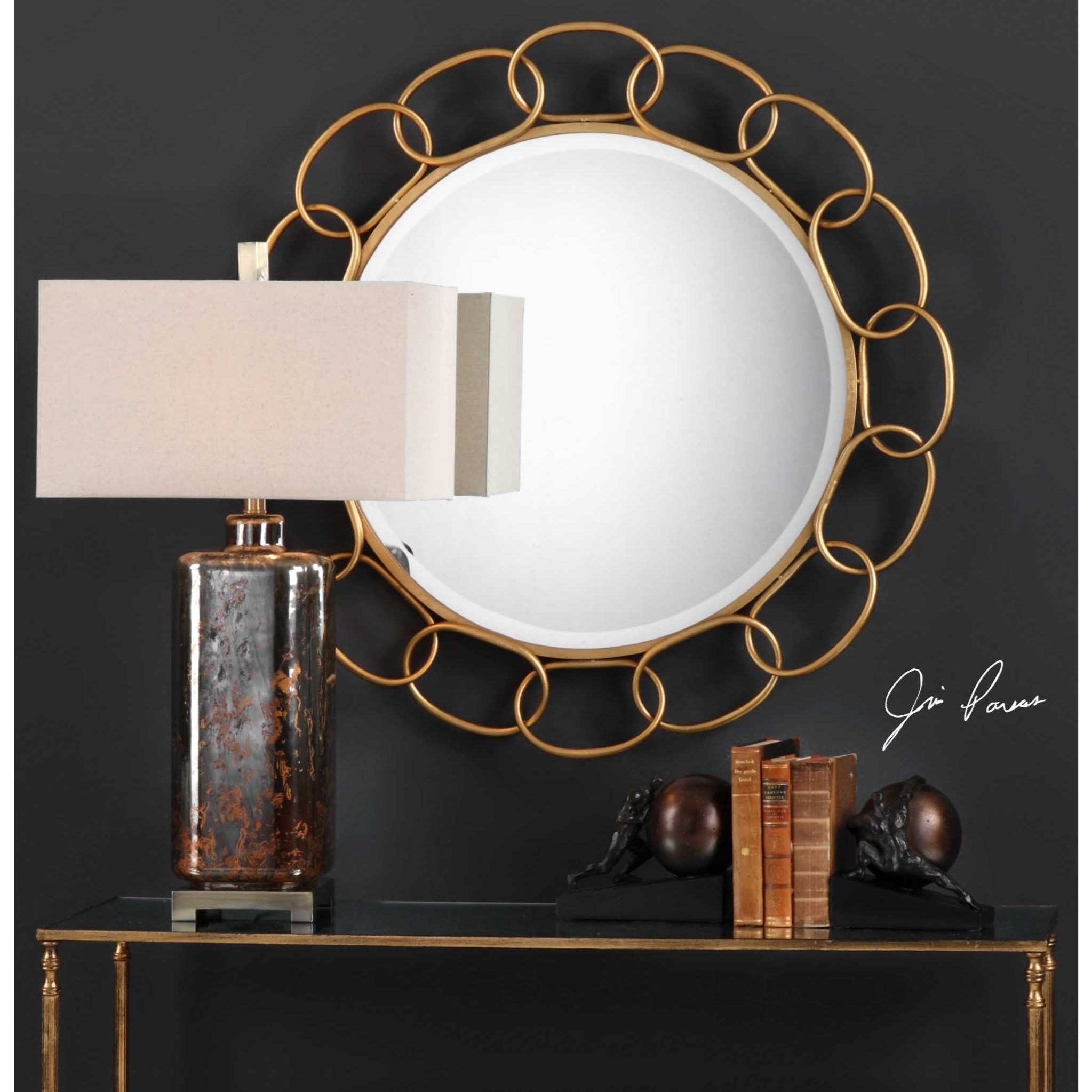 Delightful ... Uttermost MirrorsCirculus Gold Round Mirror Awesome Ideas