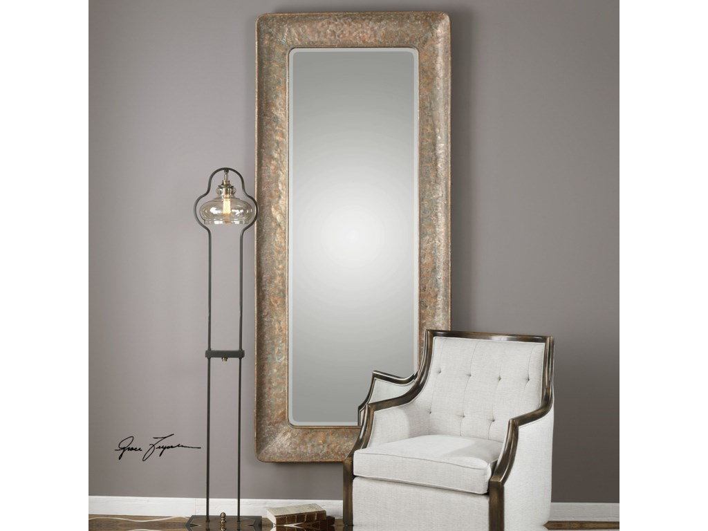Uttermost MirrorsSilas Hammered Gold Mirror