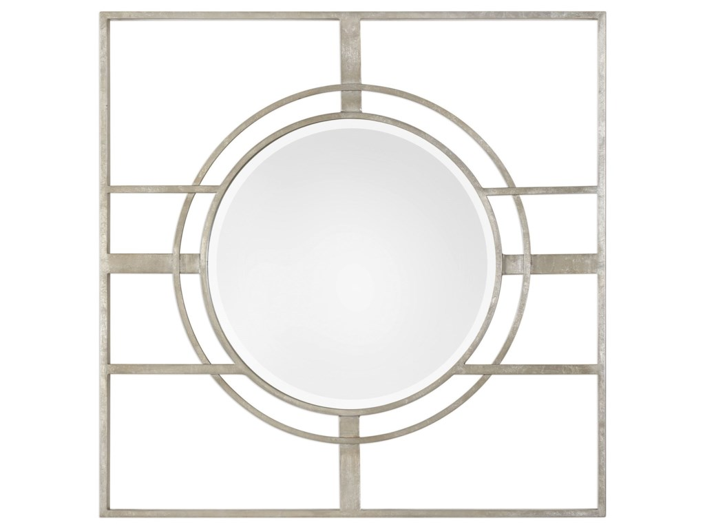 Uttermost MirrorsZenon Contemporary Silver Mirror