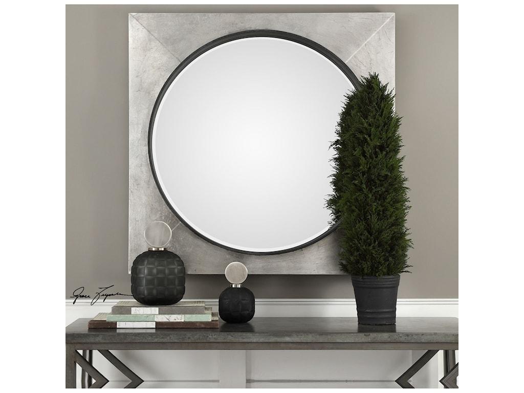 Uttermost MirrorsSolomon Metallic Silver Mirror