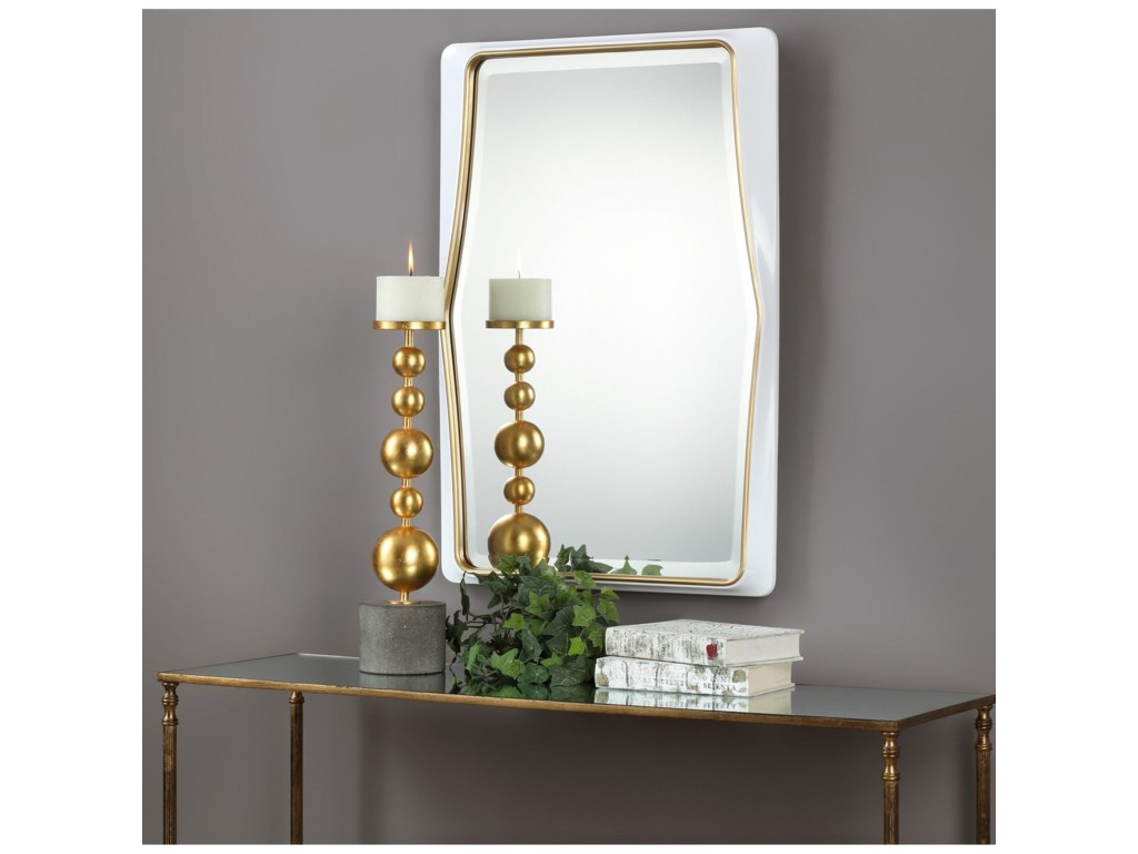 Uttermost MirrorsColleen Gloss White Mirror